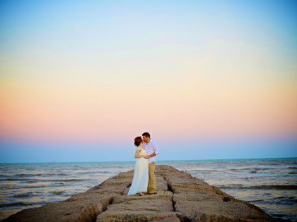Sidnee & Derrick's Galveston Beach Wedding Photography Portfolio