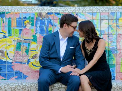 Natalie & Adam's Engagement Photography Portfolio – Downtown Houston, TX