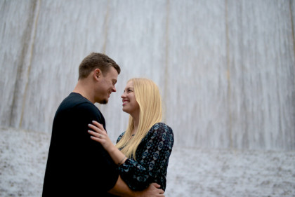 Kodi & Travis' Engagement Photography Portfolio – Gerald D. Hines Waterwall Park – Houston, TX