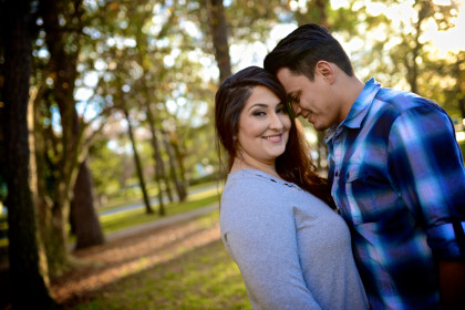 Allison & Alex's Engagement Photography Portfolio – Hermann Park – Houston, TX