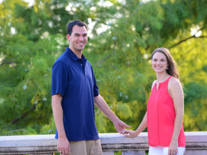 Tiffani & Kyle's Engagement Photography Portfolio – Sabine Promenade – Houston, TX