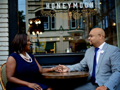 Natasha & Andre Anthony Engagement Photography Portfolio – Markets Square Park – Downtown Houston, TX