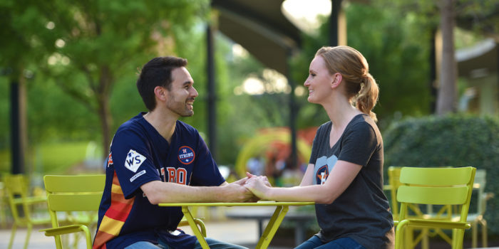 Karen & Allen's Engagement PhotographyPortfolio – Levy Park – Houston, TX