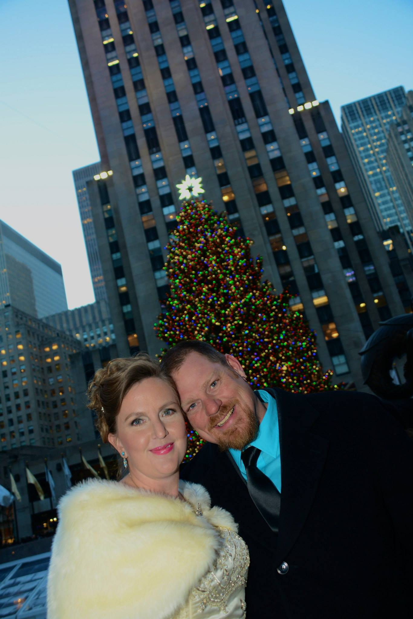 Rockefeller Center Christmas Wedding
