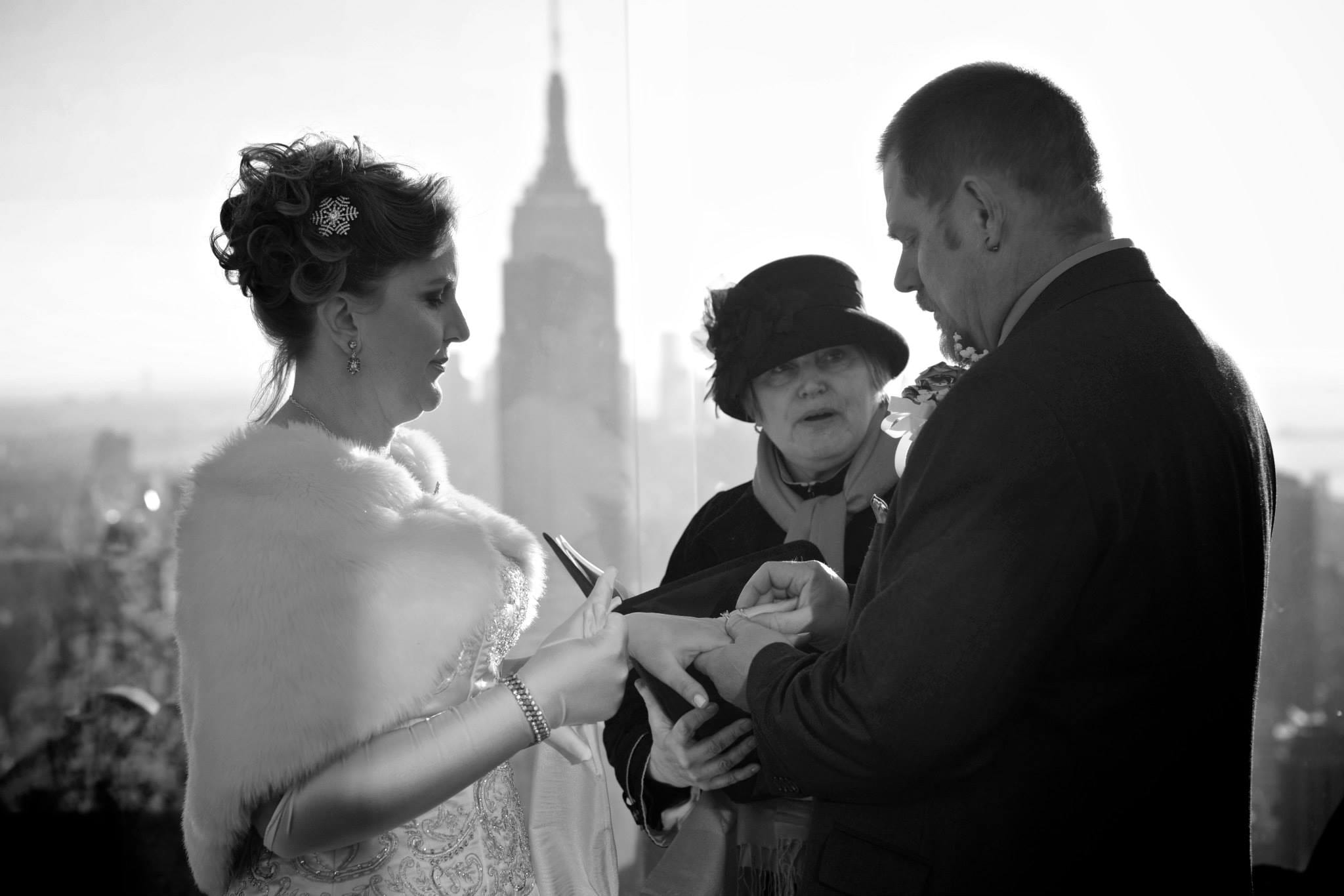 Top of the Rock Wedding - Rockefeller Center Wedding