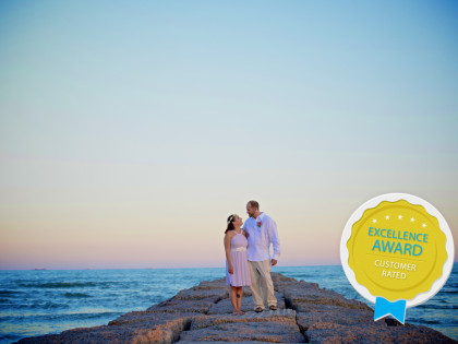 Monica & Shawn's Wedding Photography Portfolio – Galveston, TX