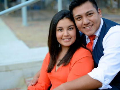 Gabriela & Geovanny's Engagement Photography Portfolio – Market Square Park – Downtown Houston, TX