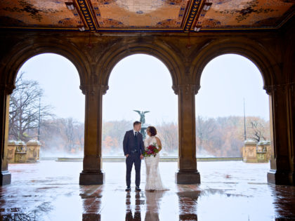 Amanda & Nikita's Wedding Photography Portfolio – Bethesda Terrace and Fountain – Central Park – New York City