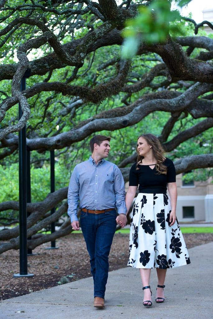 A&M University Century tree Engagement Photo
