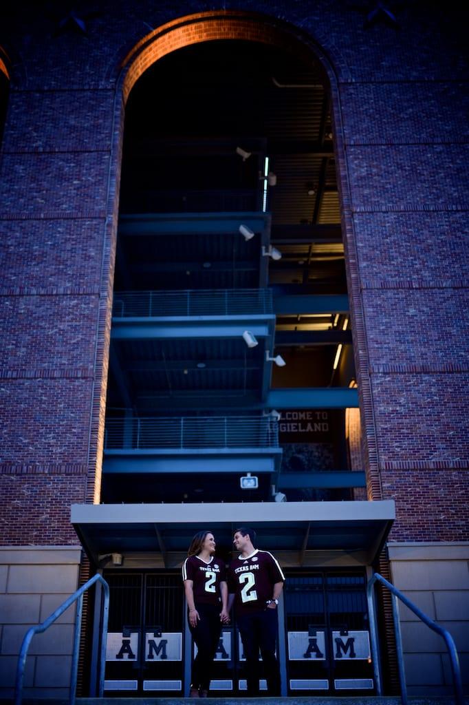 A&M University Kyle Field Engagement Photo