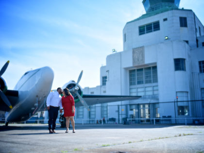 Corina & Freddi 's Engagement Photography Portfolio – 1940 Air Terminal Museum – Houston, TX