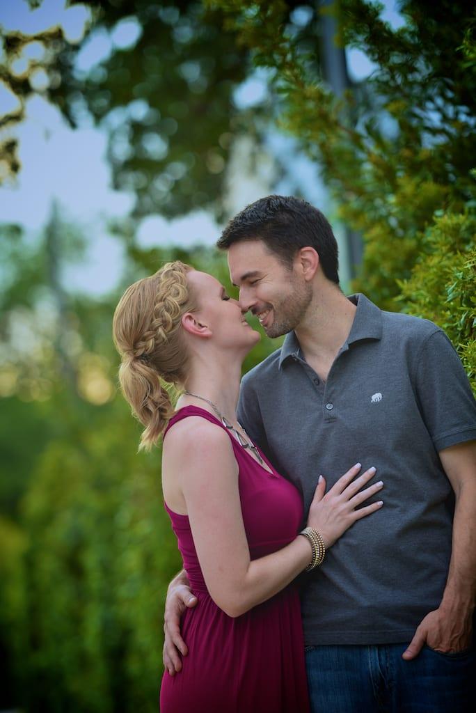 Levy Park Engagement Photo