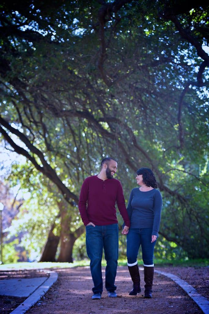 Brackenridge Park Engagement Photo
