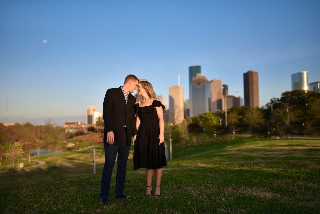 Buffalo Bayou Park Engagement Photo