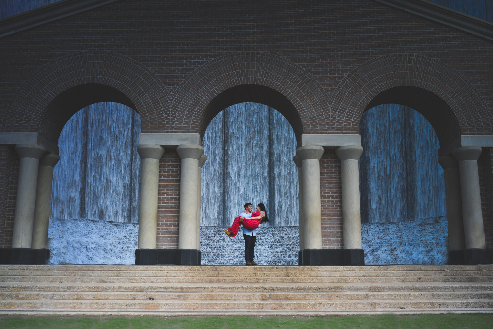 George Hines Waterwall Surprise Proposal