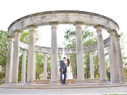 Hermann Park Engagement Session – Andrea + Kevin – Houston, TX